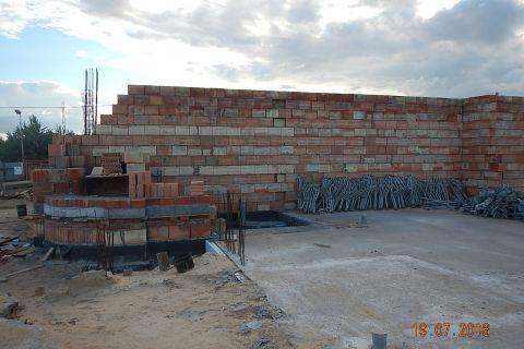 Budowa Kościoła - stan budowy do 31.08.2016 r.
