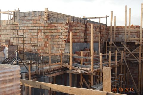 Budowa Kościoła - stan budowy do 09.10.2016 r.