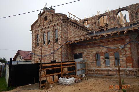 Budowa Kościoła - stan budowy do 17.07.2017 r.