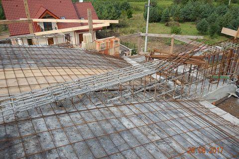 Budowa kościoła - stan budowy 05.09.2017