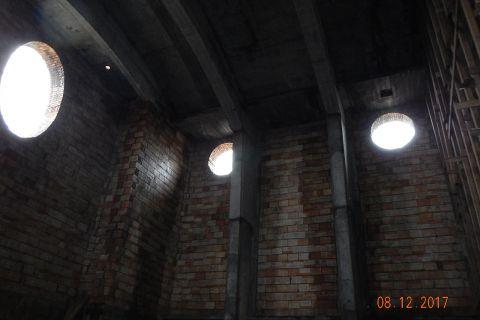 Budowa kościoła - stan budowy 08.12.2017