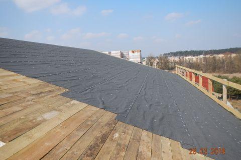 Budowa koscioła - stan budowy 26.03.2018 r. Dach kościoła