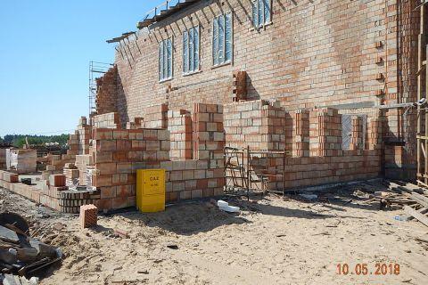 Budowa Kościoła - zakrystia, pomieszczenia parafialne i plebania- stan z dnia 10.05.2018 r.