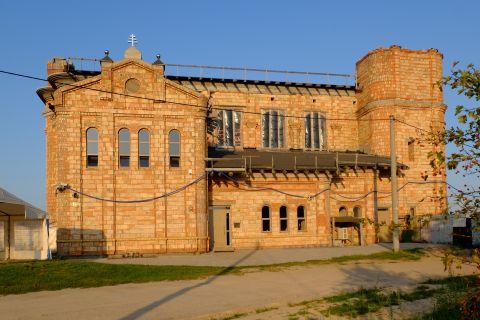Foto Budowanego Zespołu Sakralnego pw. św. Jana Pawła II  przy dobrym świetle