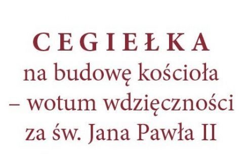 Cegiełka na budowę kościoła pw. św. Jana Pawła w Ignatkach - Osiedle